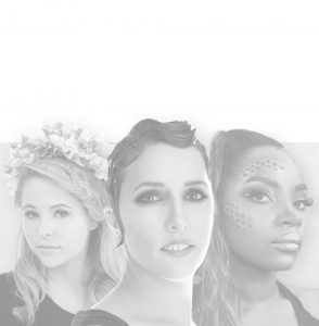 Three women posing