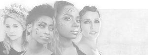 Four women posing